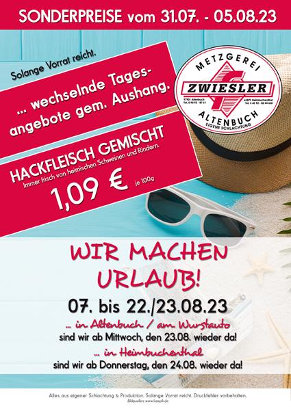 Wochenempfehlungen Metzgerei Zwiesler