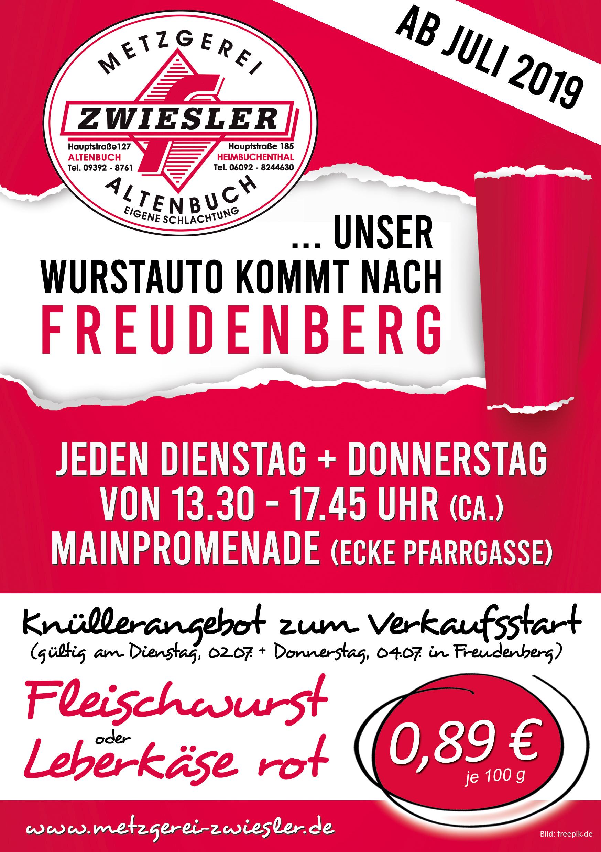 Wurstauto ab Juli auch in Freudenberg